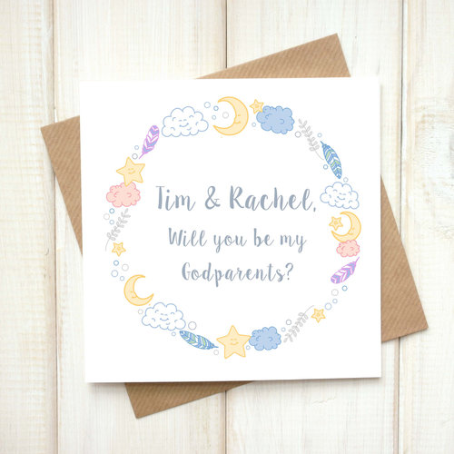 Personalised be my godparent card chi chi moi personalised be my godparent card m4hsunfo