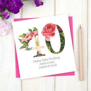 Personalised paper 1st wedding anniversary card chi chi moi personalised paper 1st wedding anniversary card m4hsunfo
