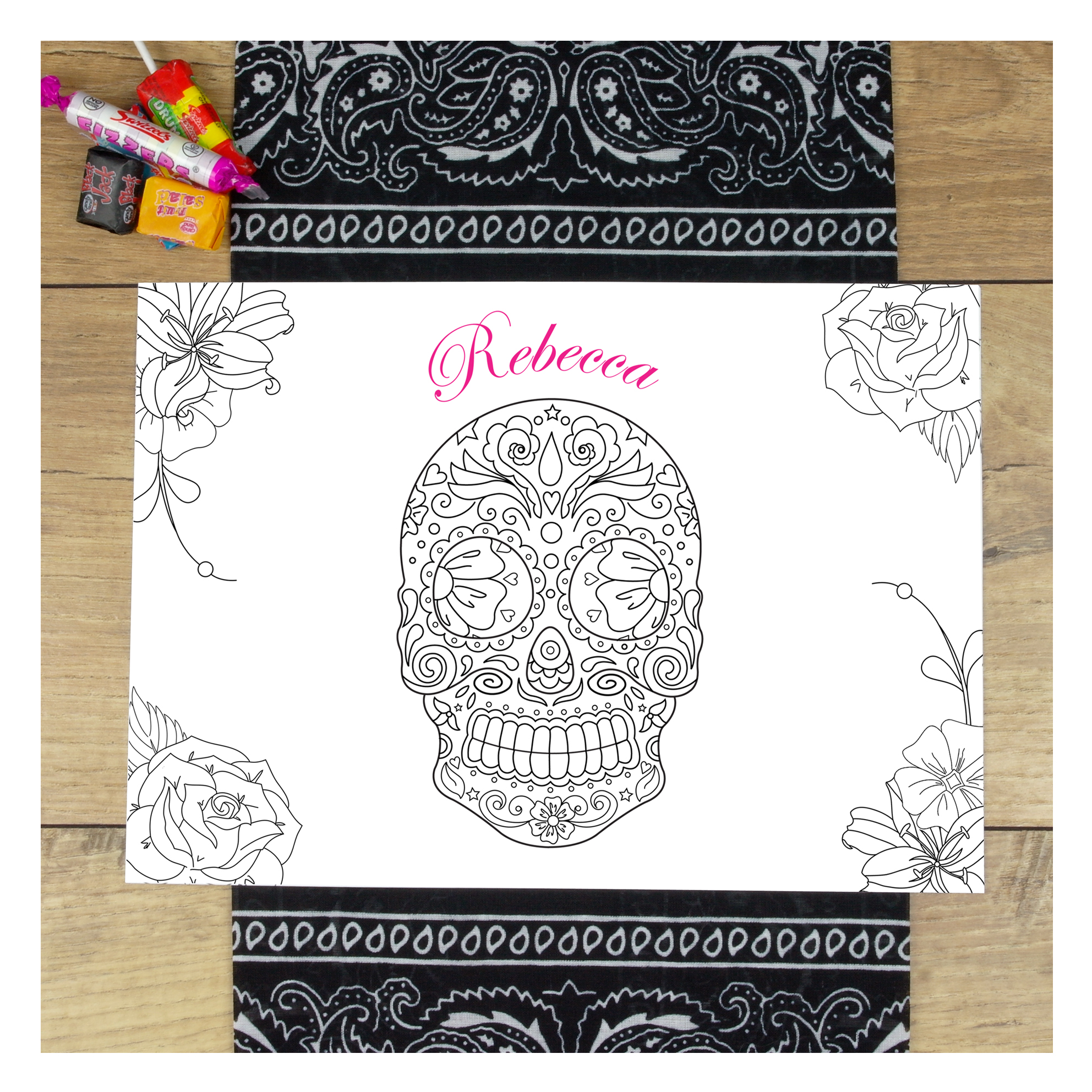 Chi-Chi-Moi-Halloween-Personalised-Sugar-Skull-Colouring-In-PlaceMat-1