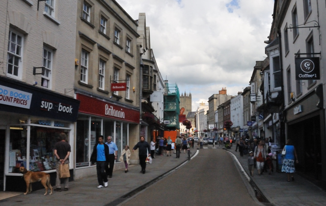 Wells Hight Street   Wells Then and Now