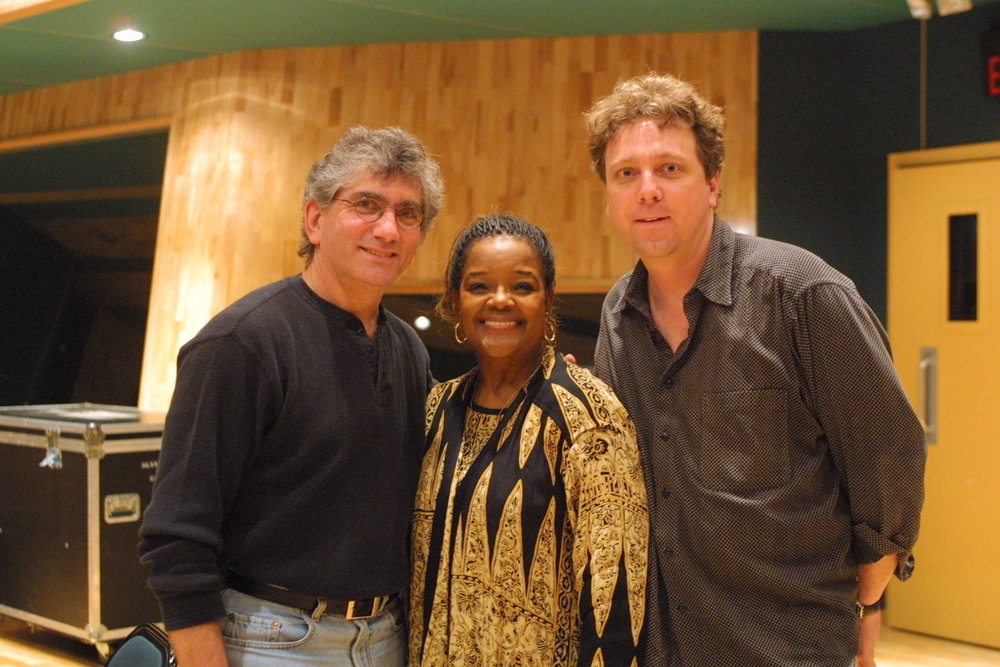(l-r) Joel Moss, Shirley Caesar and Jeff Gaskill are a Grammy-nominated team