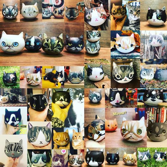 Custom Cat - Universal Catch All - Planter - Organizer - Get a handpainted work of art to look like your cat or a friends cat. A purrfect gift for the cat lover. Shop Now:    https://www.etsy.com/listing/472050258/customize-cat-planter-cat-lover-gift?ref=shop_home_feat_2