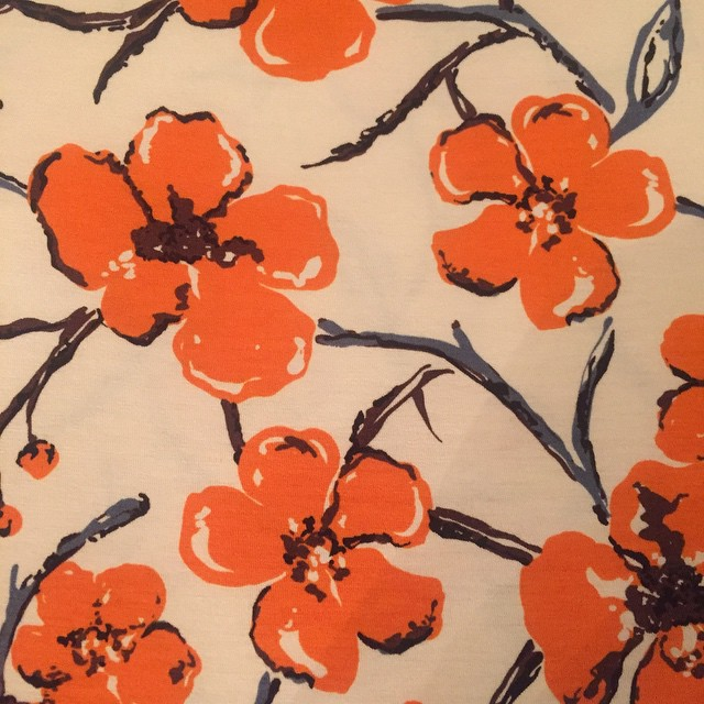 This lovely Italian knit fabric is in our Spring Summer collection. #womenstunics #orangetops #springtops