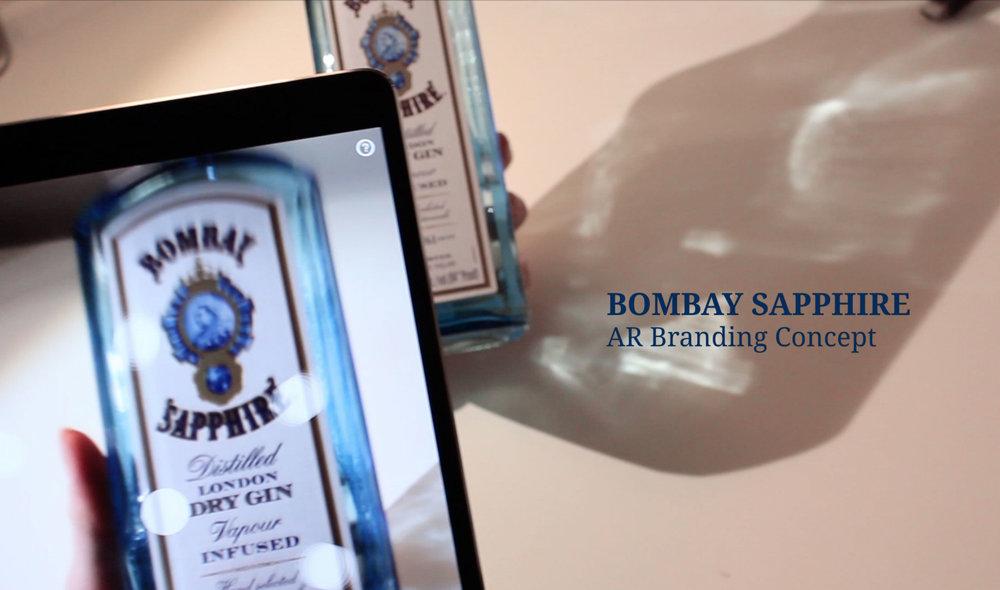 Bombay Sapphire AR branding