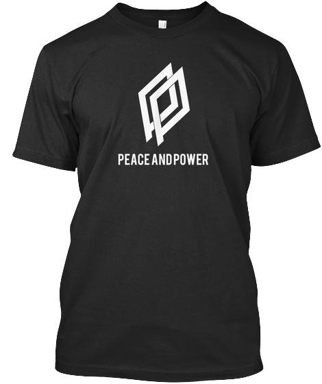 $30.00 - The Peace and Power T-Shirt - Black