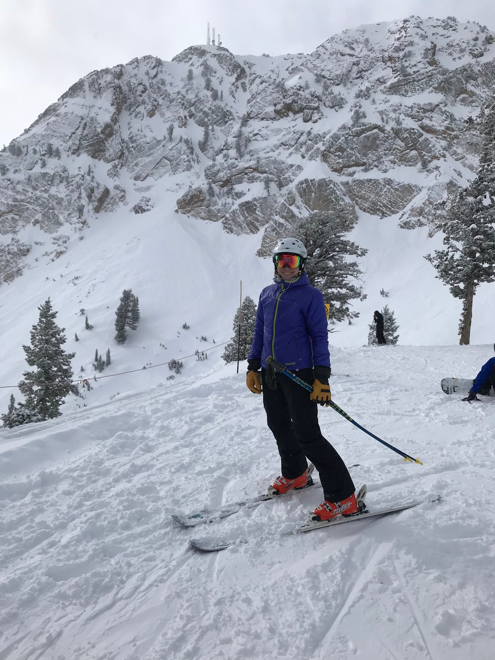 Turns at Snow Basin with friends.