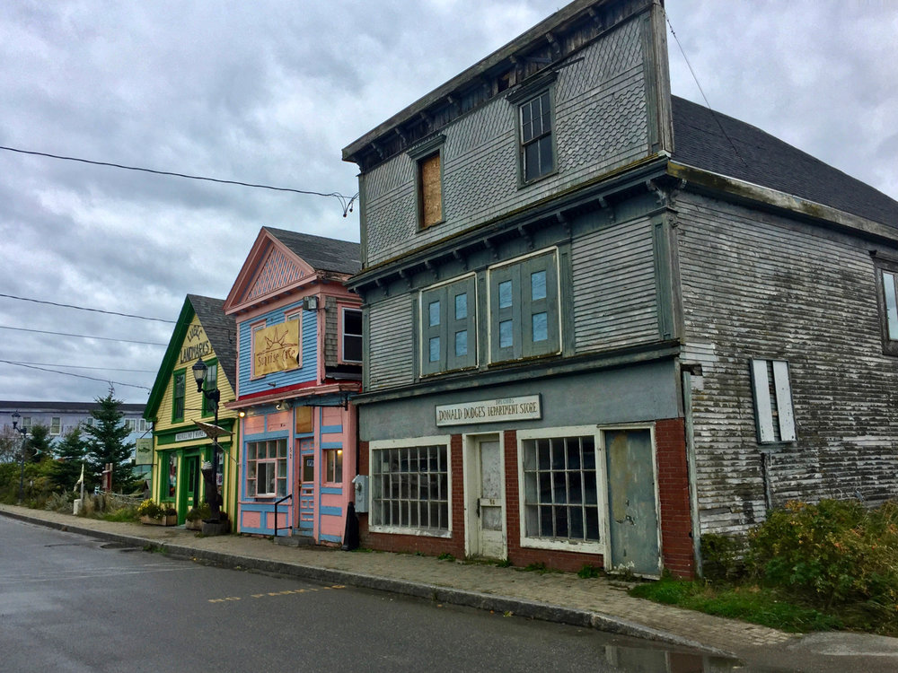 Maine street Lubec Maine, the eastern most town in the US.  It is thought provoking how the depressed northern most areas of one country are adjacent to the far more affluent southern borders of the next.  Food for thought.