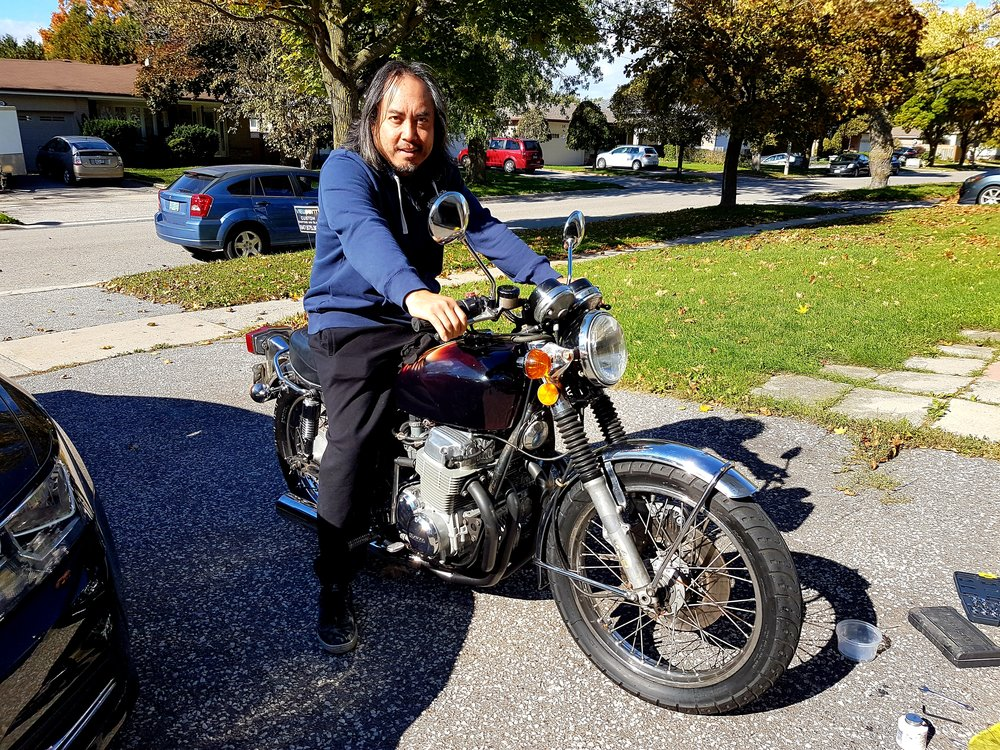 Chester and his 1973 Honda CB750 K3