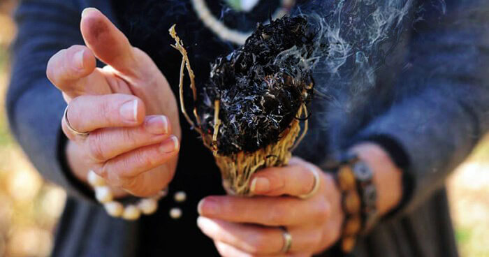 Smudging is traditionally used as a way to clear spiritual and emotional negativity.