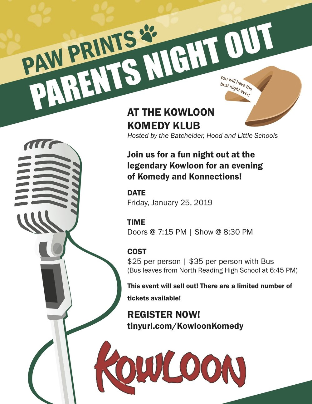 Parents Night Out - REGISTER NOW! tinyurl.com/KowloonKomedy