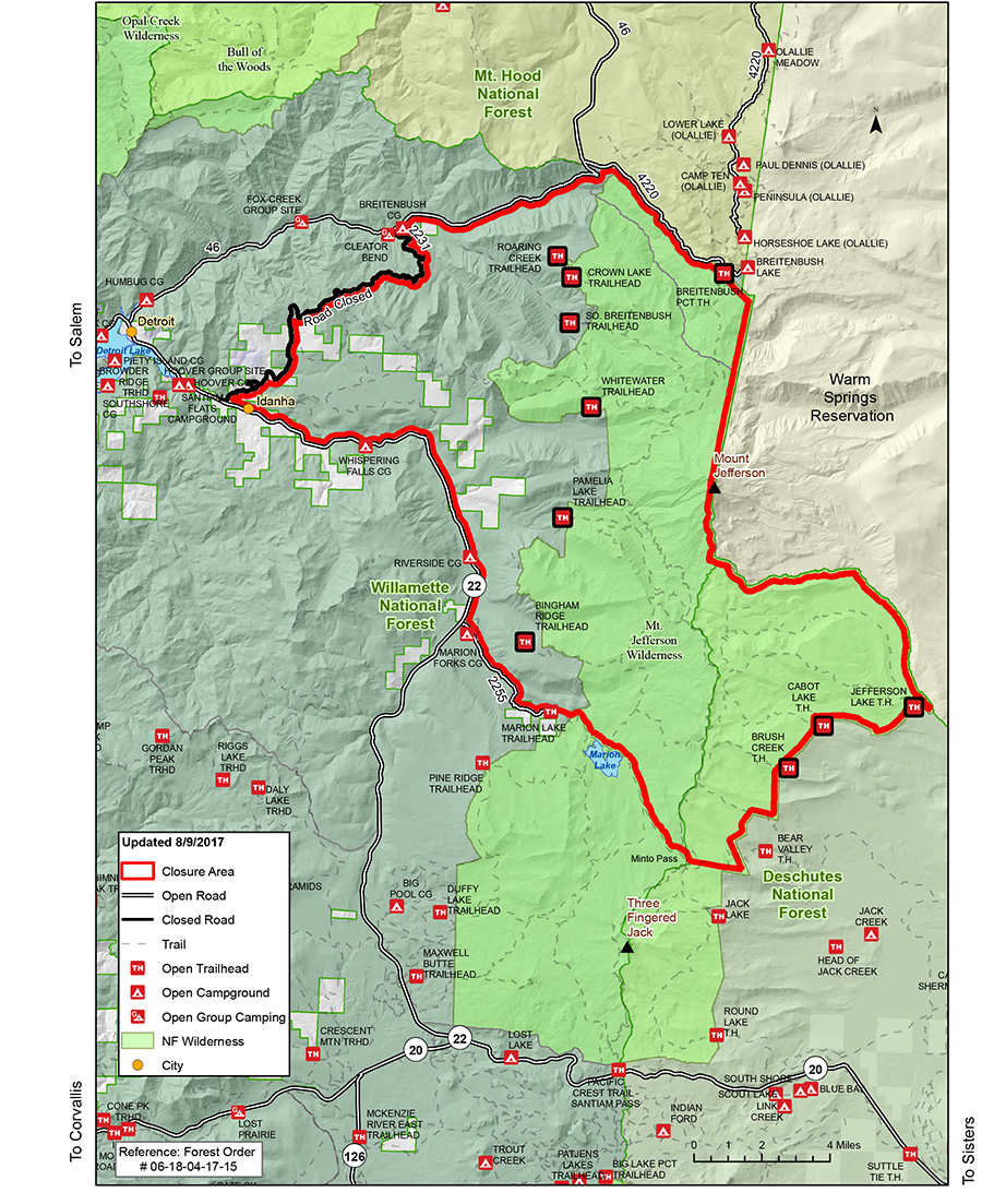 Figure 2: Map showing the fire situation 12 days out - it didn't change much from this scenario right up to the day of the eclipse