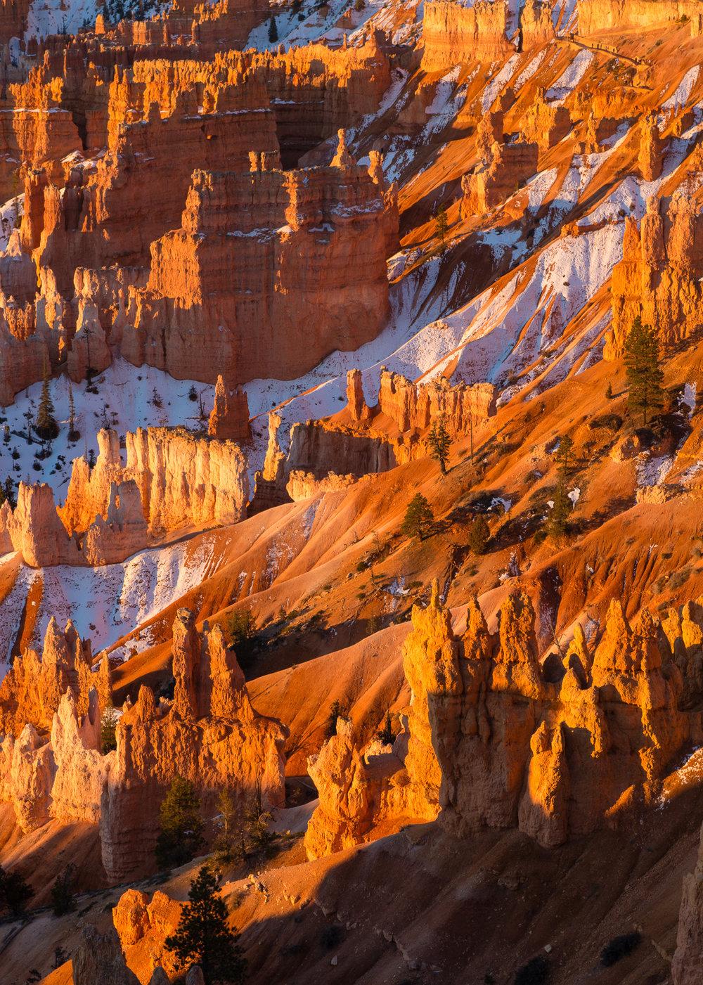 Hoodoos in Canyons, Bryce Canyon