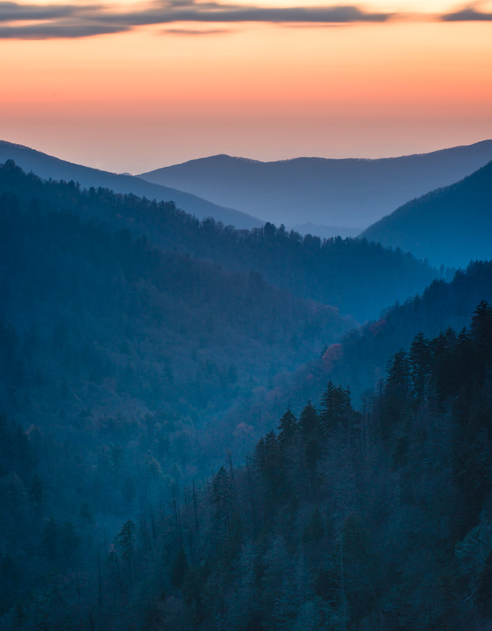 Morton Overlook after sunset