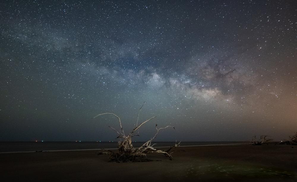 Milkyway, Driftwood Beach 1