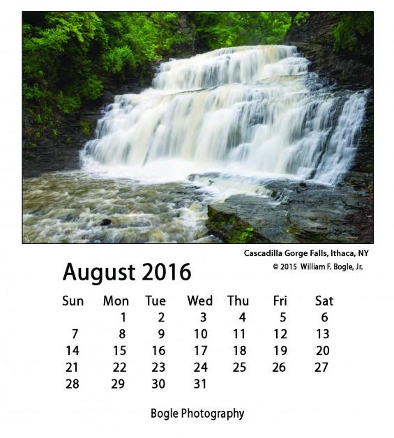 Bogle_8_August_2016 Calendar