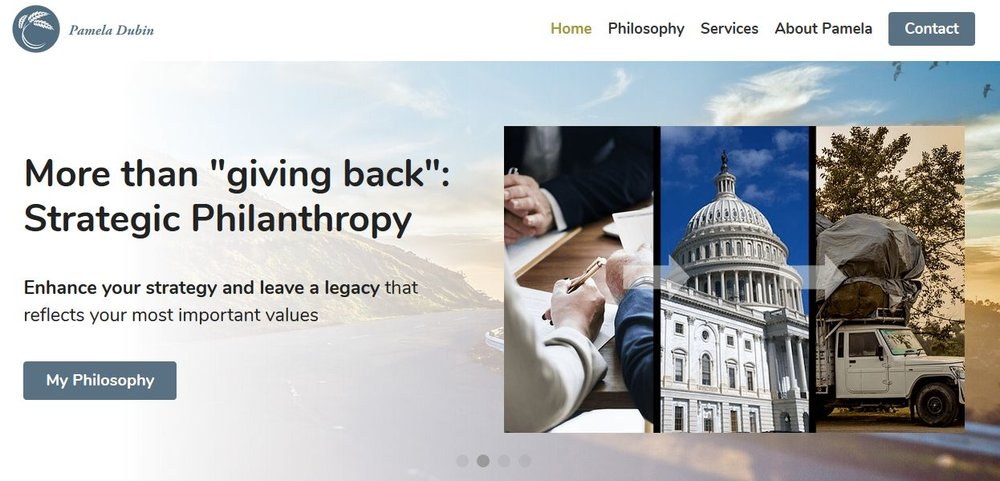 pameladubin.com, Uncommon Philanthropy