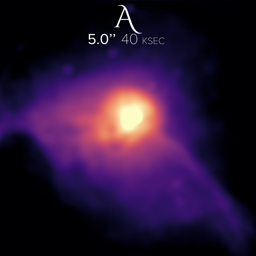 M87 at 5 arcsecond spatial resolution