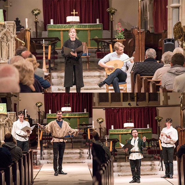 Some snaps from our Songs and Sonnets celebratory concert last Saturday (which included the premiere of Stuart Fortey's new play Greville's End)! The festival absolutely flew by, and we will be posting lots of pictures in the upcoming weeks. Thank you to everyone who attended! #shakespearesengland #Alcester #warwick #warwickshire #redditch #studley #stratforduponavon #fulkegreville #fulkefest2018 #lute #earlymusic #stuartfortey #greville #history #tudor #sonnet #poetry #poem #poet #midlands #sixteenthcentury #elizabethi #jamesi