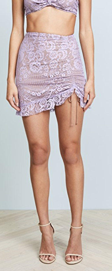 For Love & Lemons Valentina Lace Miniskirt $128.00