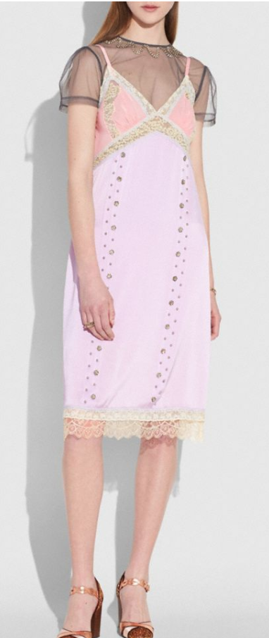COACH Prairie Rivets Slip Dress $895