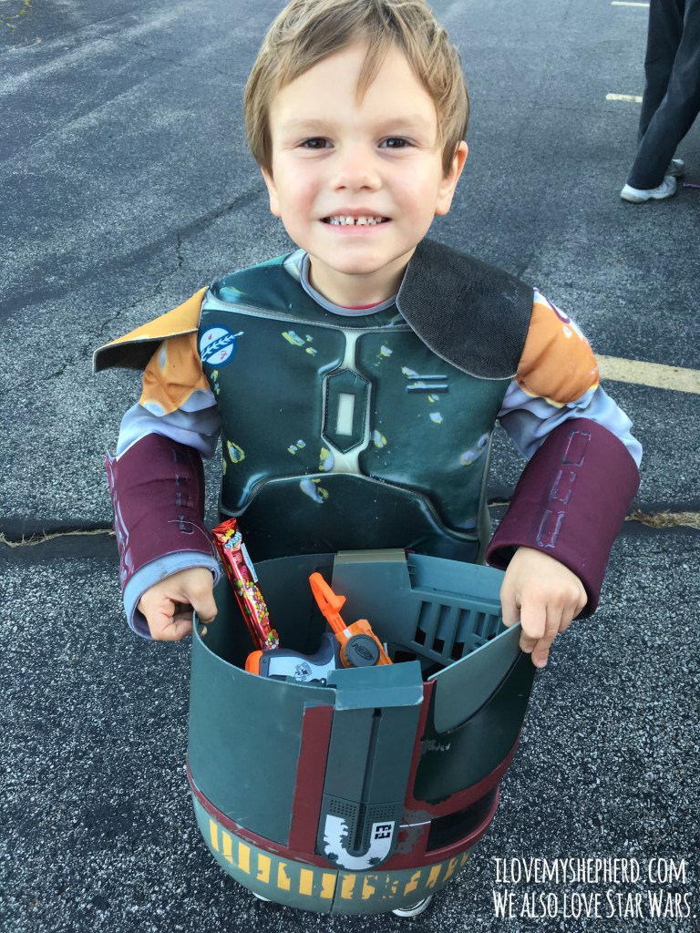 One tiny sinner, saved by Grace Alone…dressed as Boba Fett.