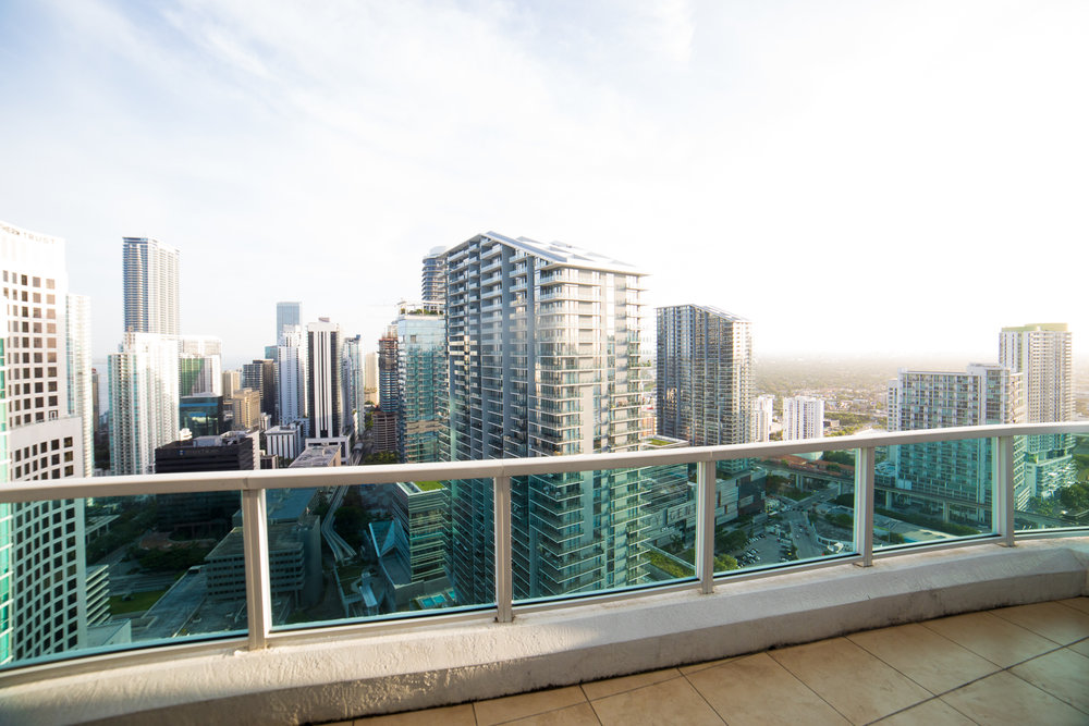 PENTHOUSE TERRACE - overlooking the heart of Brickell on the 48th floor, the only studio in the world that can photograph you with the REAL MIAMI SKYLINE as your background