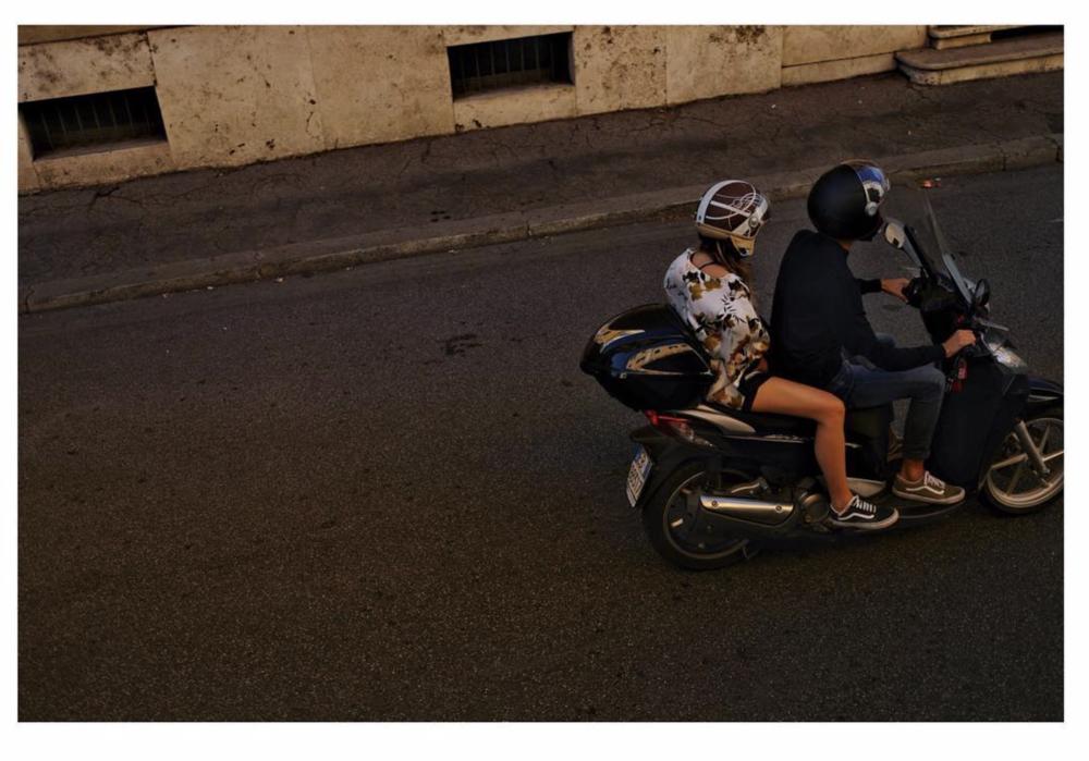 Roma italy moped