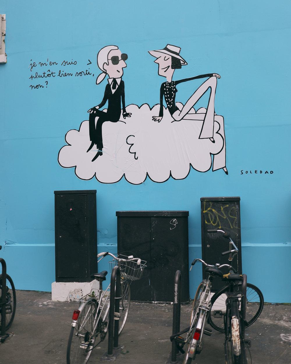 karl lagerfeld street art