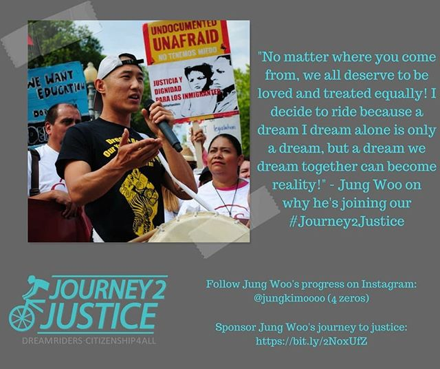 "This August, NAKASEC will be on a #Journey2Justice. For 37 days and over 1,700 miles, our undocu young ppl and allies will be biking border to border on the West Coast and demanding #Citizenship4All (link in bio). . . . Jung Woo, one of our core ""Dream Riders"" is riding because everyone deserves to be loved and treated equally, regardless of where you come from! Follow his progress on his Instagram - @jungkim0000"