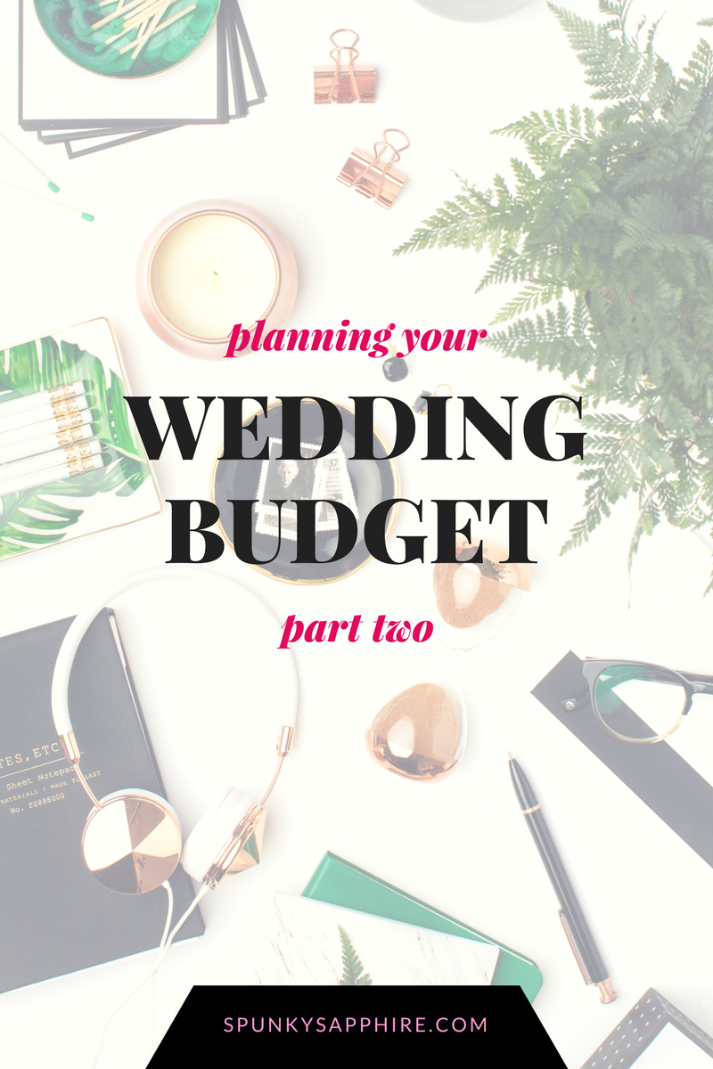 prioritizing your wedding budget spunky sapphire events and design