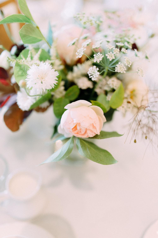 blush wedding centerpiece