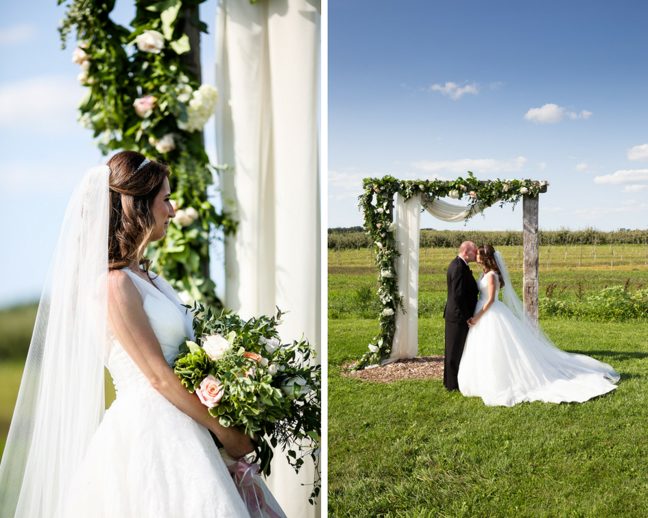 Garden Wedding Ceremony Floral Arch