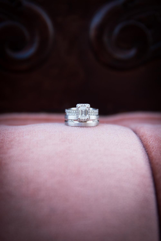 Pink Wedding Ring Photo Square Engagement Ring