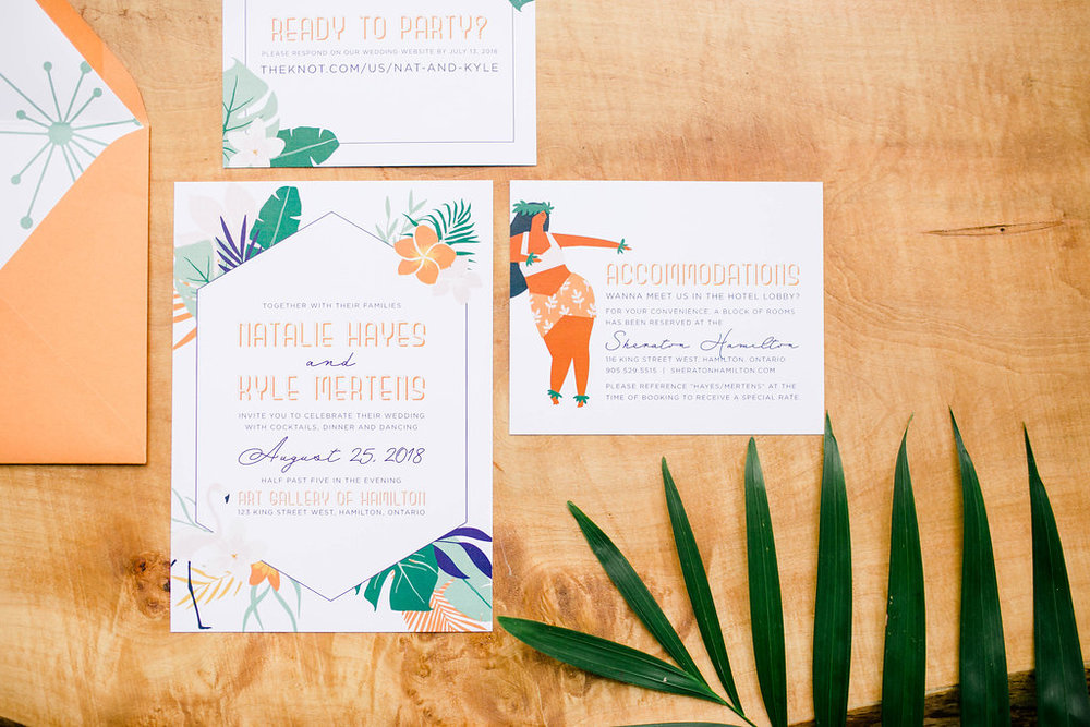 Simply Sealed Tropical Wedding Invitation