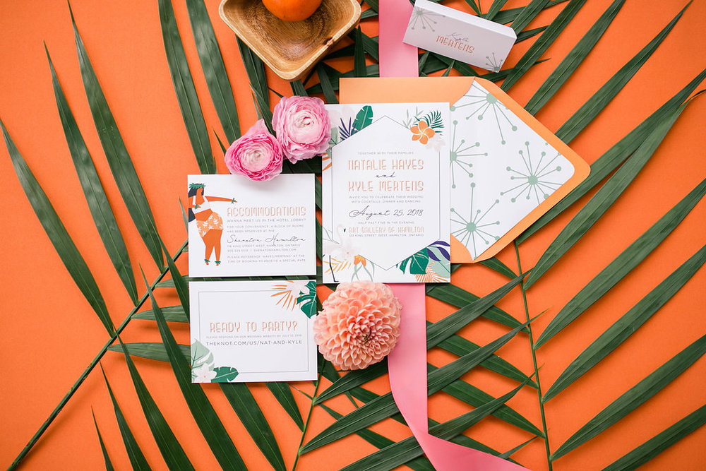 Luau wedding invitation