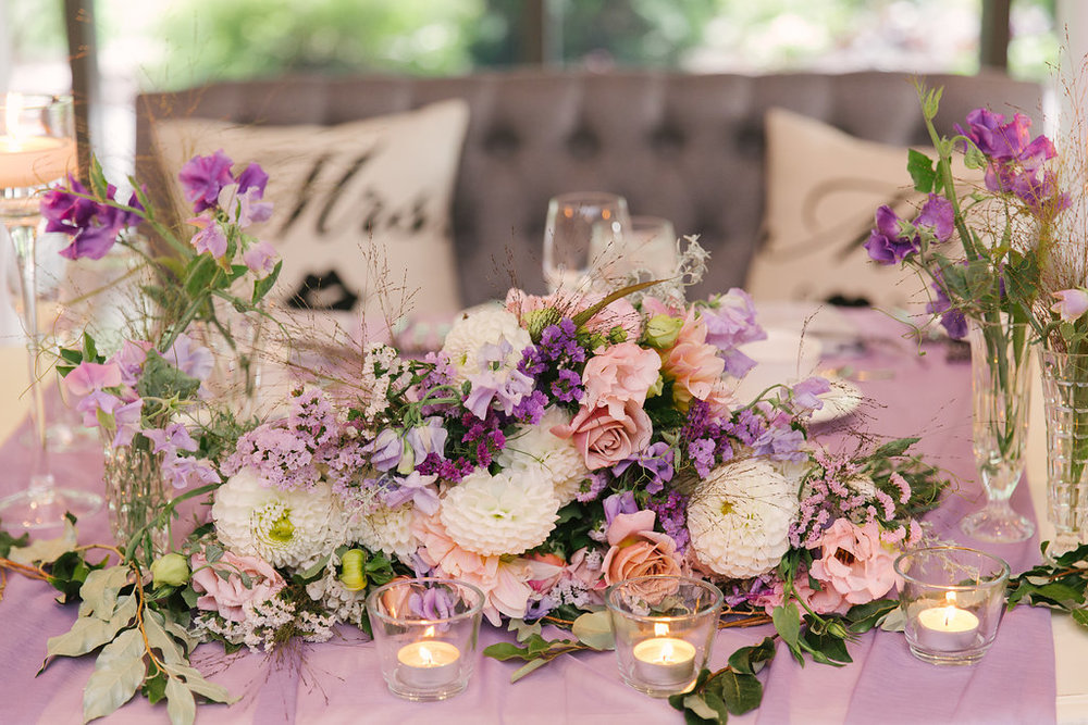 Purple Pink Purple Garden Fairy Wedding | spunkysapphire.com
