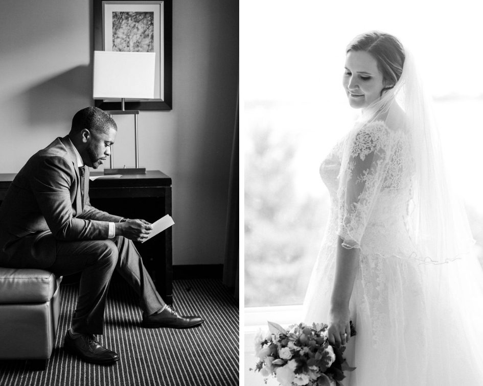 Black and white bridal portraits // spunkysapphire.com/blog