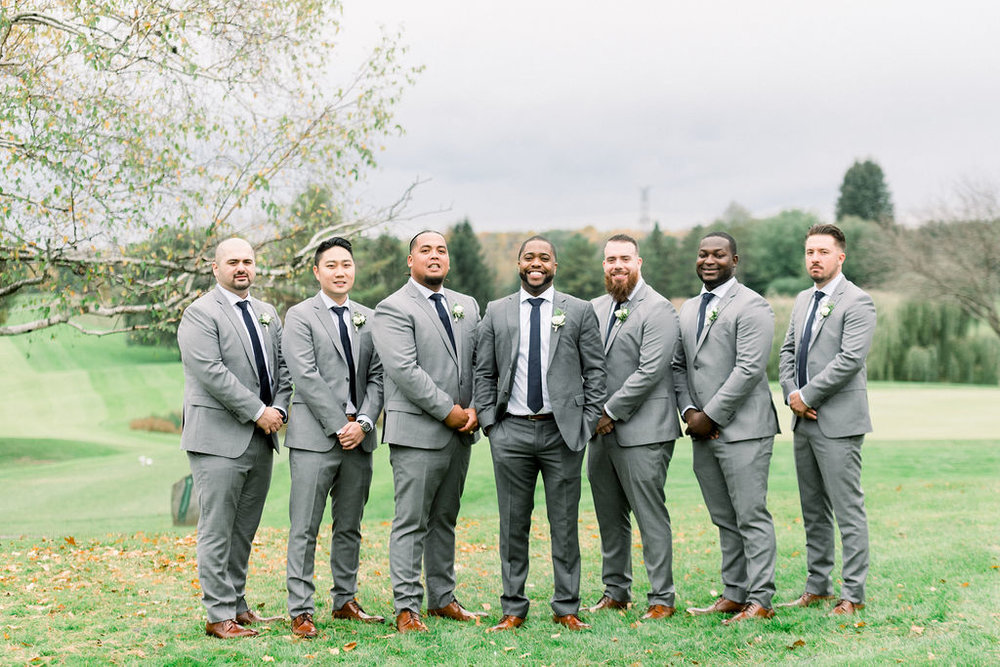 Grey Wedding Suit Groomsmen Black Tie // spunkysapphire.com/blog