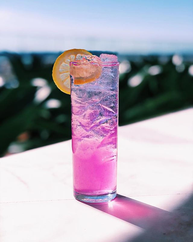 It's a pink drink kind of day! Too beautiful to pass up a rooftop! Who needs some sunshine? 🌞 #kabanarooftop