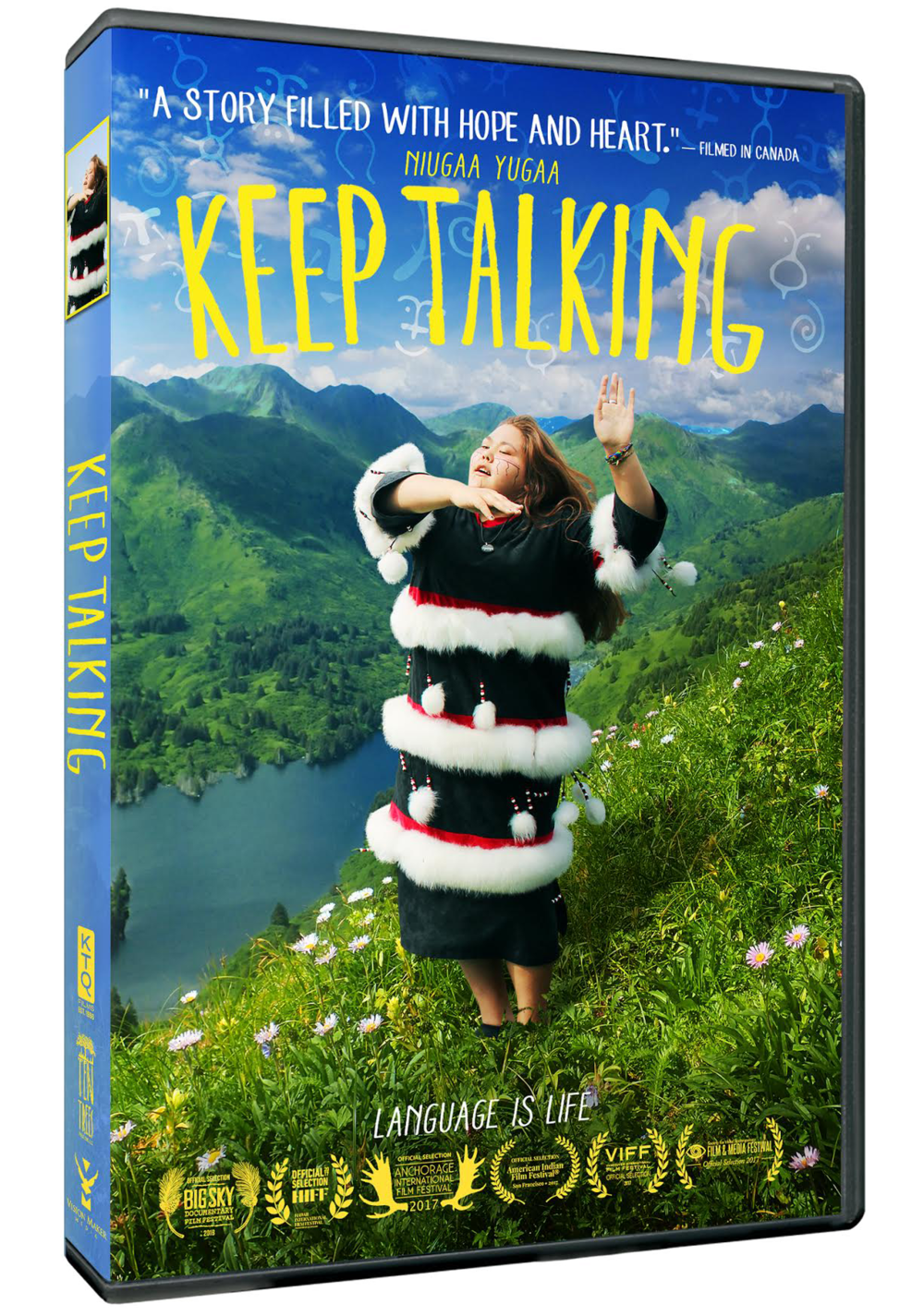 KEEP TALKING on DVD! - $24.95Includes: - Two versions of the film (79 minute and 57 minute)- English and Spanish subtitles- 18 never-before-seen extra scenes, including A New Word for 'Tweet', Dancing is for Men, and The Eldest Elder- Downloadable educational discussion guide