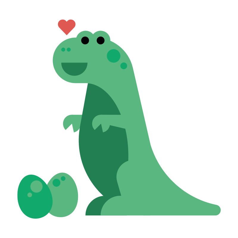 DINO - Dino is a bit shy, but loves sports, food, lovies, and having fun. Big and noisy, but literally a ton of friendly fun.After all, he's a dinosaur!