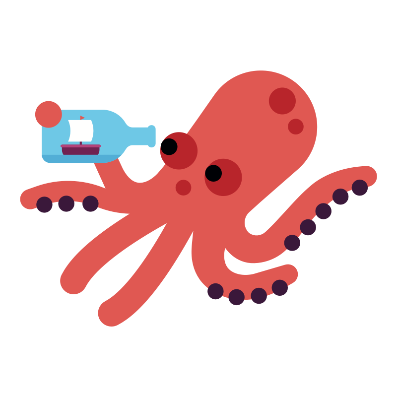 OCTY - Octy is a smart, intellectual octopus that loves reading, experimenting, and marveling at the wonder of the world.