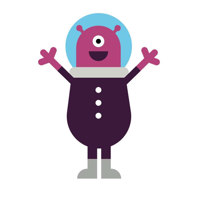 Alie - Alie is an out of this world alien visiting from the far reaches of the universe. Adventurous and funny, Alie loves technology and Earth's funny quirks.