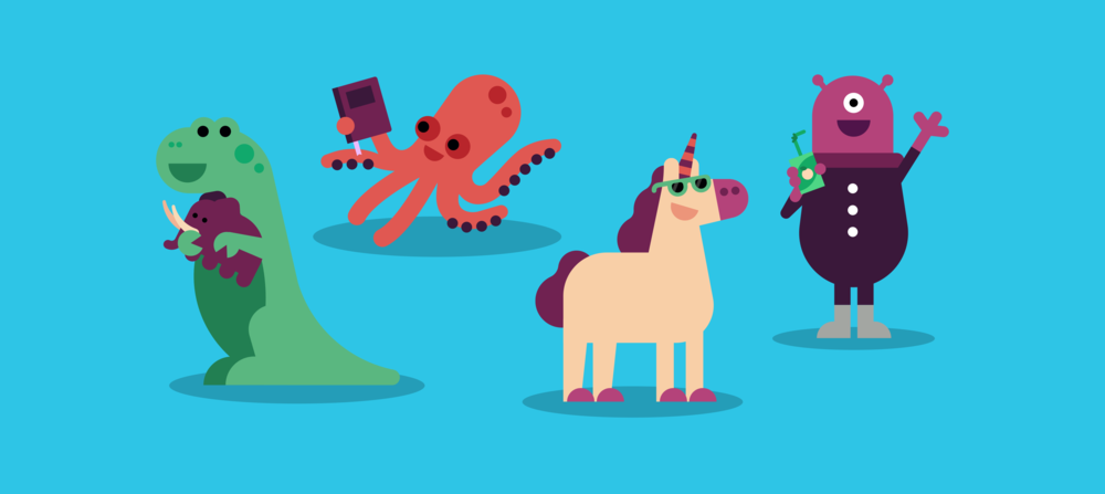 SAY HELLO TO THE BETABUBS - A collection of friendly lovable creatures that love playing games and using technology.