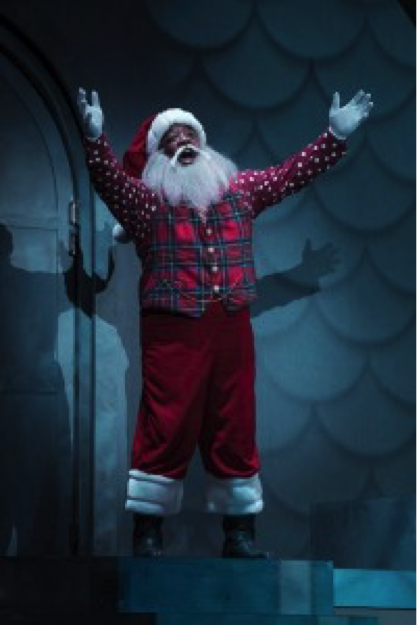 DeMone as Santa. Photo courtesy of Tuacahn