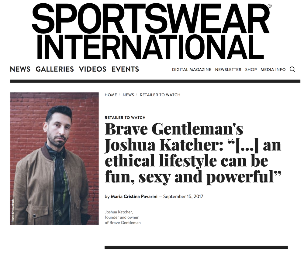 SPORTSWEAR INT'L, Sept 2017