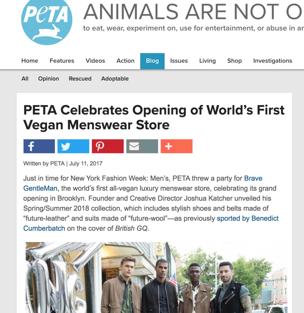 PETA, Aug 2017