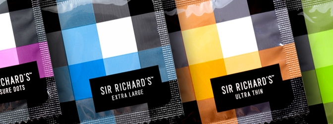 SIR RICHARD'S   More than condoms, our ever-expanding product lines are cultivated to encourage conversation, eradicate bedroom boredom and perhaps push a few boundaries. Everything we do is driven by our ambition to produce pleasurable and responsibly sourced sex accessories for every body and every body type. The leading manufacturer of premium condoms that are free of harmful chemicals (parabens, spermicide, or glycerin) and PETA-approved and vegan-certified (we do not use the dairy product casein [or any animal product]).