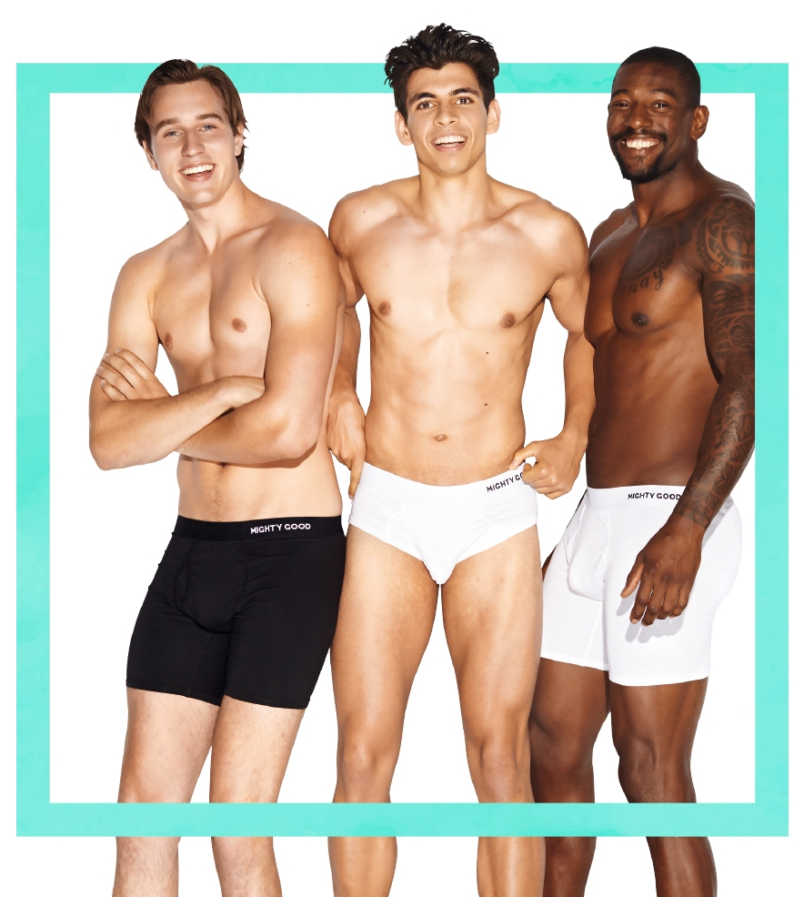 MIGHTY GOOD UNDIES   Mighty Good believes everybody should have affordable quality cotton underwear sourced from the most ethical and sustainable supply chain we can find. We think they should come with a carbon offset too.