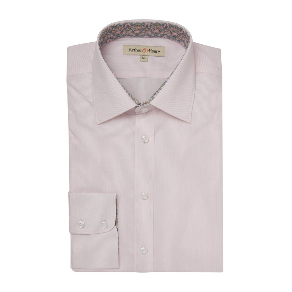 Arthur & Henry - Pink Stripe Organic Cotton Shirt.